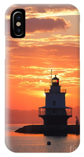 Sunrise At Spring Point Lighthouse IPhone Case