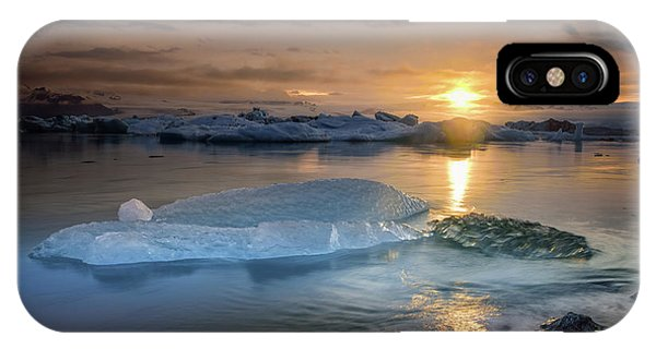iPhone Case - Sunset Over Glacier Bay In Iceland by Keith Ladzinski
