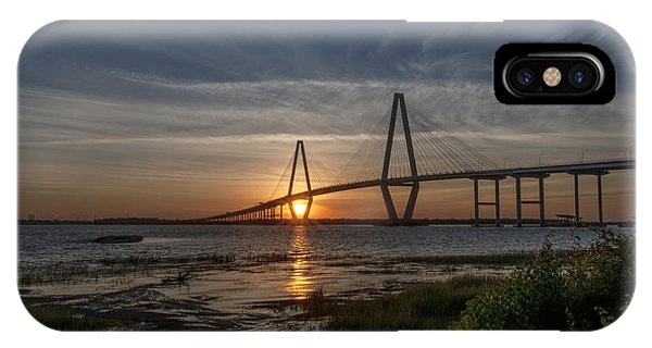 Sunset Over The Bridge IPhone Case