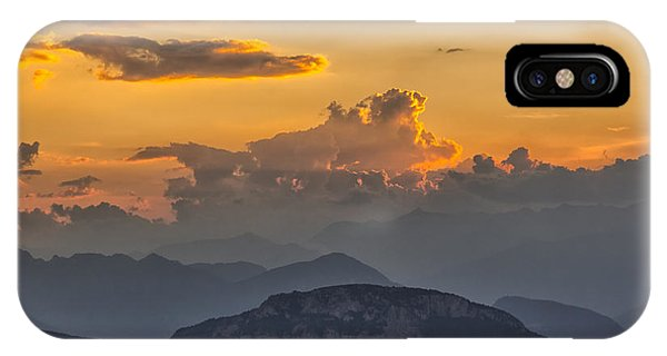 Sunset Over The Mountains. Italy IPhone Case