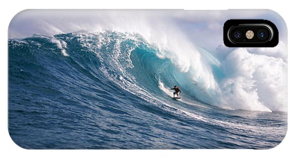 Tidal iPhone Case - Surfer In The Sea, Maui, Hawaii, Usa by Panoramic Images