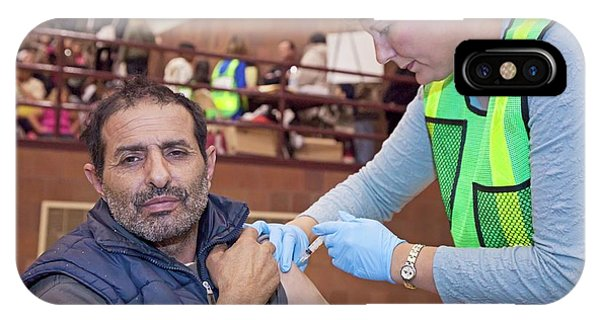 Swine Flu (h1n1) Vaccination Phone Case by Jim West