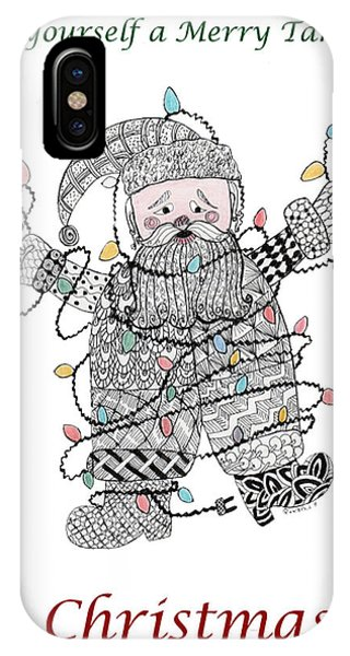 Tangled Santa IPhone Case