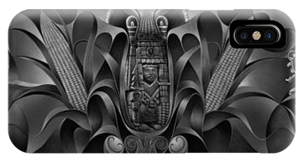 Aztec iPhone Case - Tapestry Of Gods by Ricardo Chavez-Mendez