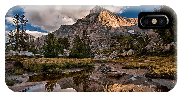 Hill iPhone Case - Tarn Reflection by Cat Connor