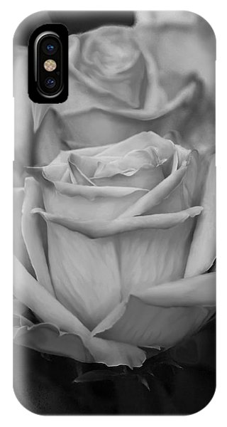 Tea Roses In Black And White IPhone Case