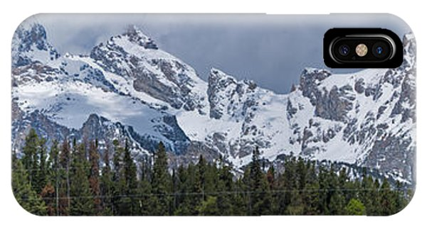 Large Tetons Panorama IPhone Case