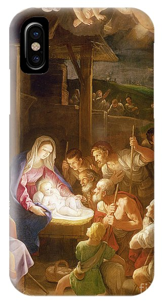 Life Of Christ iPhone Case - The Adoration Of The Shepherds by Guido Reni