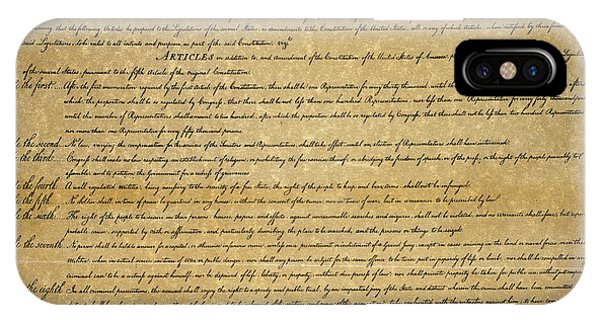 iPhone Case - The Bill Of Rights, 1789 by Granger