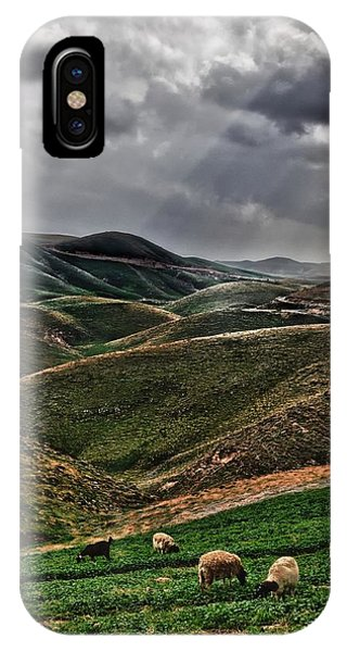 The Lord Is My Shepherd Judean Hills Israel IPhone Case