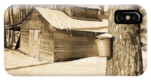New England Barn iPhone Case - The Old Sugar Shack by Edward Fielding