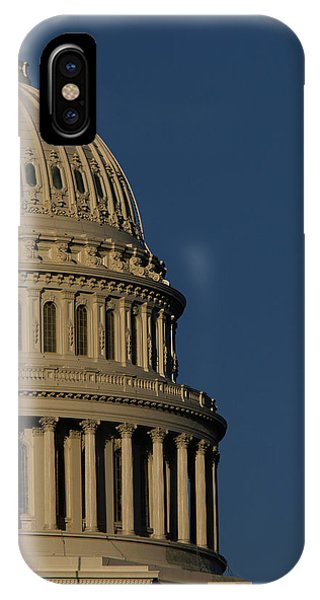 Capitol Building iPhone Case - The West Side Of The United States by Dennis Brack