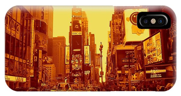 42nd Street And Times Square Manhattan IPhone Case