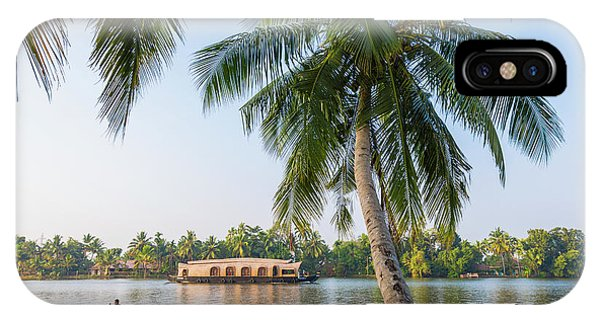 Kerala iPhone Case - Traditional Houseboat, Kerala by Peter Adams