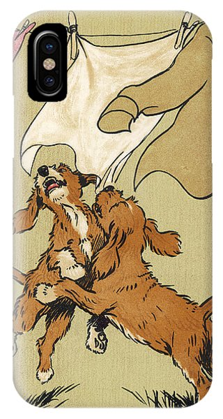 Twin Puppies, Snip And Snap Phone Case by Mary Evans Picture Library