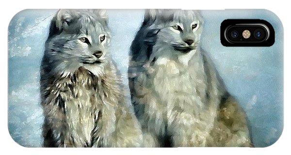 Lynx iPhone Case - Twins by Gun Legler
