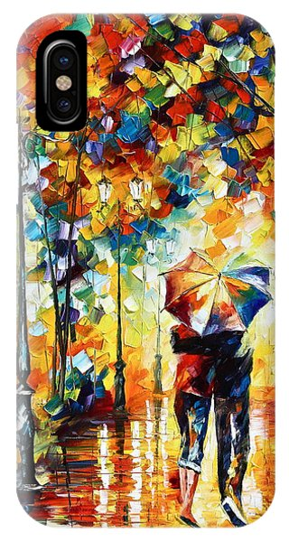 Scenery iPhone Case - Under One Umbrella by Leonid Afremov