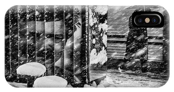 Snowy iPhone Case - Untitled by Saman Khoshamuz