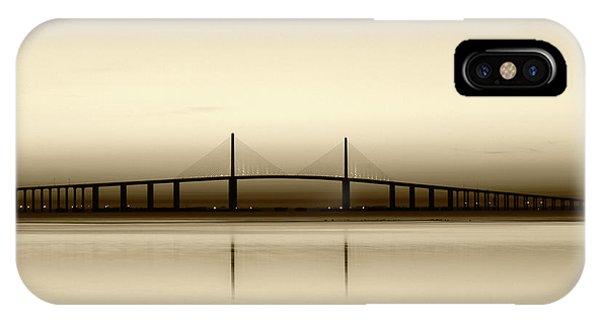 Tint iPhone Case - Usa, Florida, Sunshine Skyway Bridge by Adam Jones
