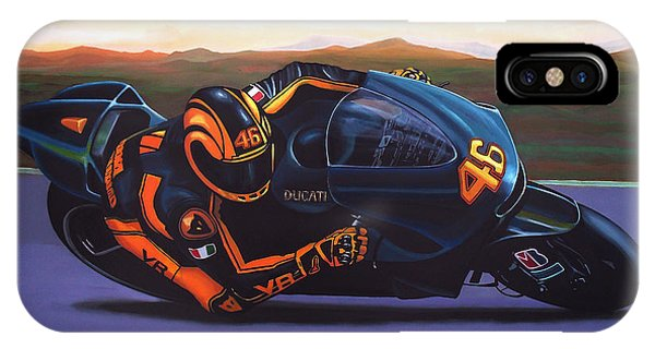 Doctor iPhone Case - Valentino Rossi On Ducati by Paul Meijering