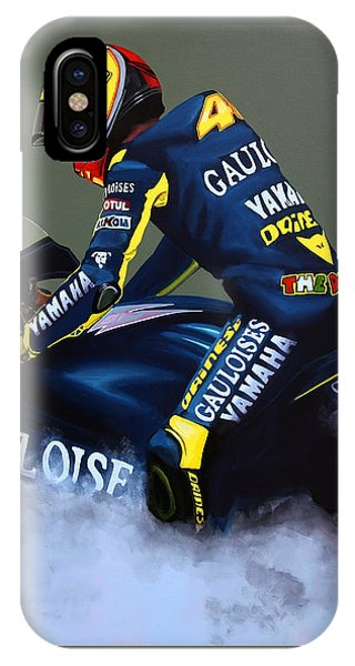 Motorcycle iPhone Case - Valentino Rossi by Paul Meijering