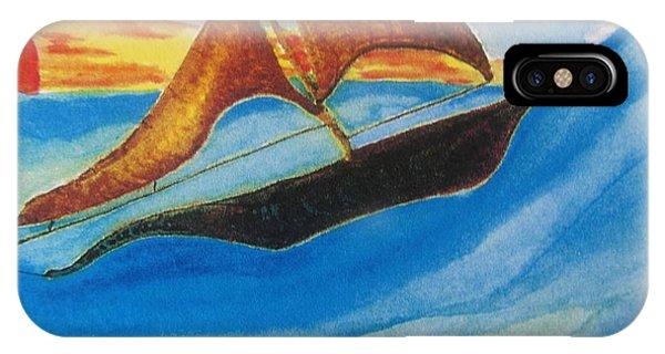 Viking Sailboat Phone Case by Debbie Nester