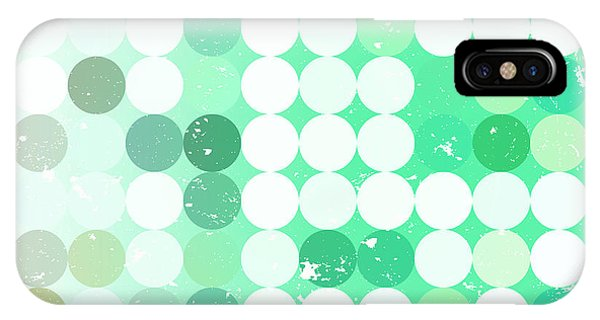 Futuristic iPhone Case - Vintage  Circles Pattern.geometric by Veronika M