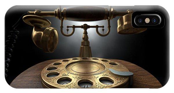 Vintage Telephone Dark Isolated IPhone Case