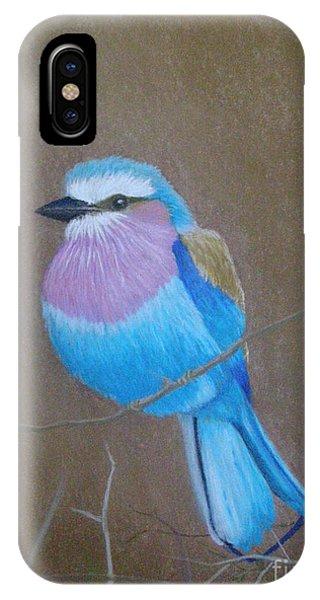 Violet-breasted Roller Bird IPhone Case