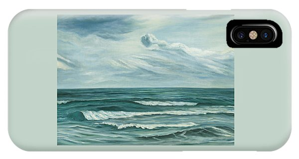 IPhone Case featuring the painting Waving Sea by Angeles M Pomata