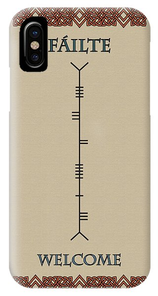 Welcome Written In Ogham IPhone Case