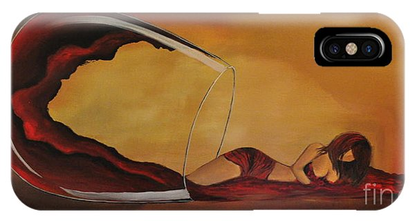 Wine-spilled Woman IPhone Case