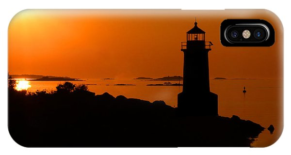 Winter Island Lighthouse Sunrise IPhone Case