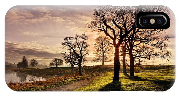 Winter Morning Shadows / Maynooth IPhone Case
