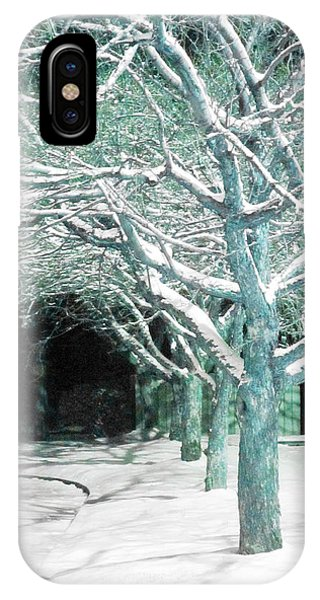 Winter Trees Phone Case by Guy Ricketts