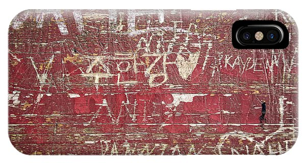 Wood Carving iPhone Case - Wood Graffiti by Elena Elisseeva