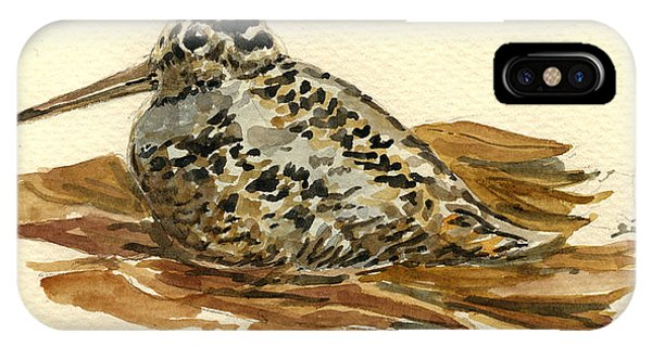Woodcock iPhone Case - Woodcock by Juan  Bosco