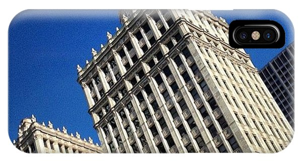 City iPhone Case - Wrigley Building- Chicago by Mike Maher
