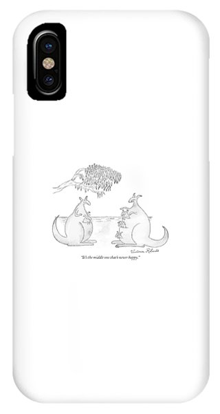 It's The Middle One That's Never Happy IPhone Case