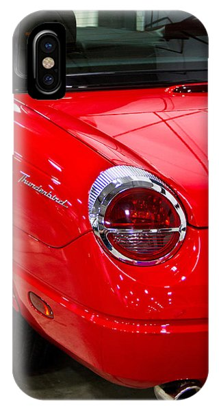 2002 Red Ford Thunderbird-rear Left IPhone Case
