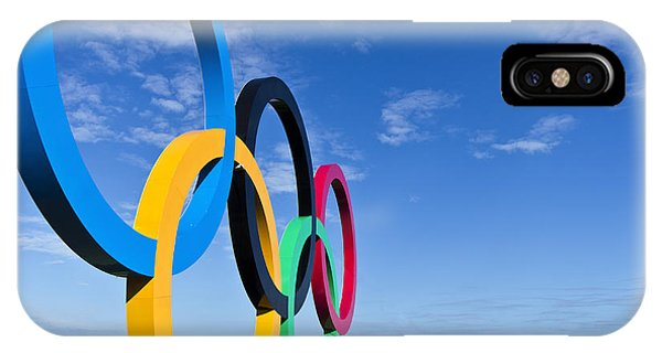 2012 Olympic Rings Over Edinburgh IPhone Case