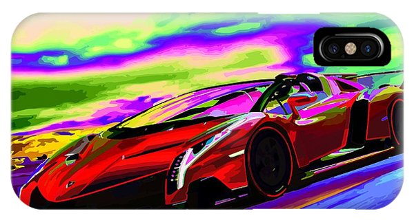 2014 Lamborghini Veneno Roadster Abstract IPhone Case