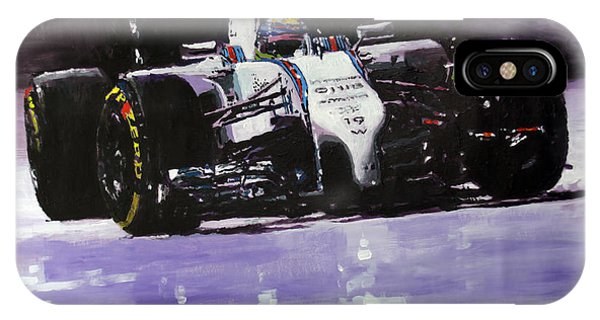 Paper iPhone Case - 2014 Williams F1 Team Fw 36 Felipe Massa  by Yuriy Shevchuk