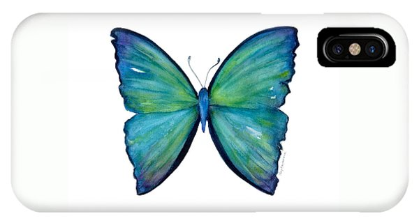 21 Blue Aega Butterfly IPhone Case