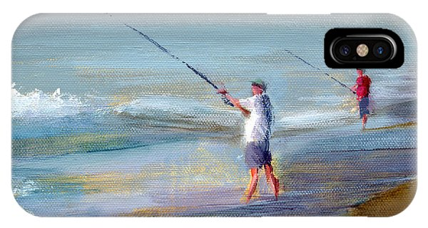 Fishing iPhone Case - Rcnpaintings.com by Chris N Rohrbach