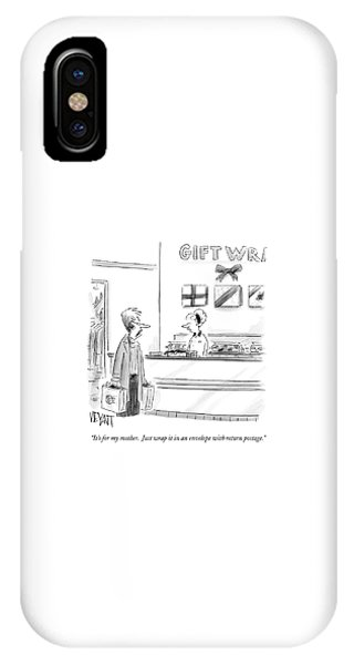 It's For My Mother.  Just Wrap It In An Envelope IPhone Case