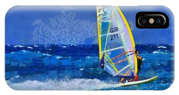 Windsurfing IPhone Case