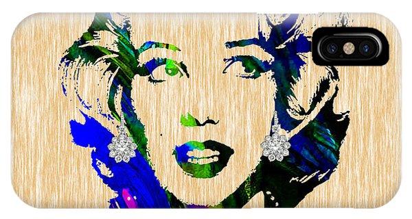 Marilyn Monroe Diamond Earring Collection IPhone Case