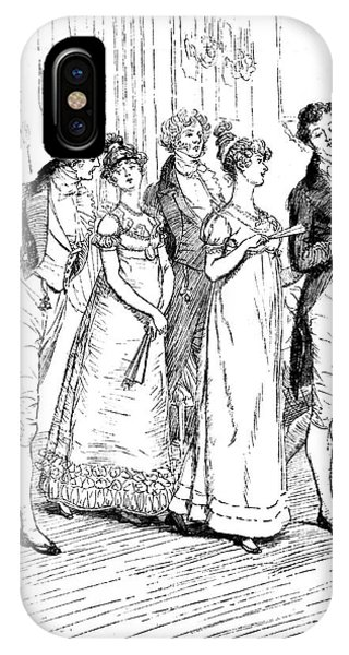 British Empire iPhone Case - Scene From Pride And Prejudice By Jane Austen by Hugh Thomson