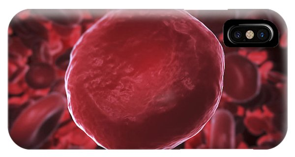 Flow Visualization iPhone Case - Red Blood Cells by Science Picture Co